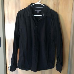 Old Navy Black Striped LongSleeve Button Shirt SzL